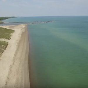 Lake Michigan  - New Buffalo Beach flyby